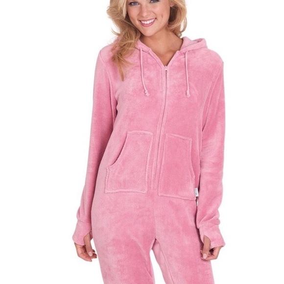 b77ef942f7 Hoodie Footie Other - Hoodie Footie by PajamaGram Pink Onesie